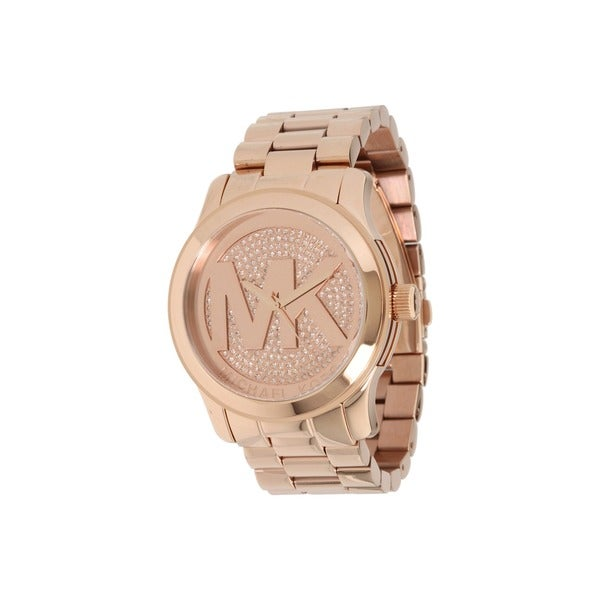 a5526c865d92 Shop Michael Kors Women s MK5661  Runway  Rose Gold Tone Stainless ...