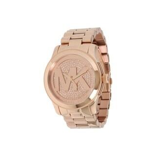 Michael Kors Women's MK5661 'Runway' Rose Gold Tone Stainless Steel Watch