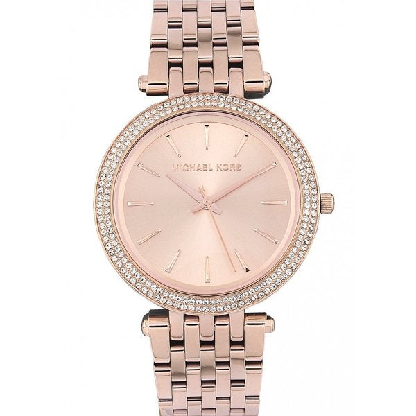 michael kors women 39 s mk3192 39 darci 39 rose goldtone stainless steel watch free shipping today. Black Bedroom Furniture Sets. Home Design Ideas
