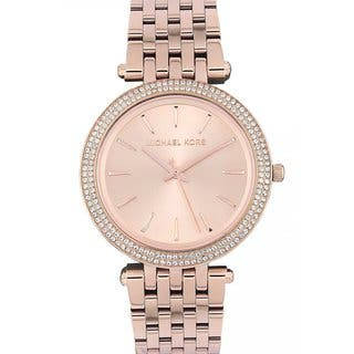 Michael Kors Women's MK3192 'Darci' Rose Goldtone Stainless Steel Watch|https://ak1.ostkcdn.com/images/products/8700606/P15951725.jpg?impolicy=medium