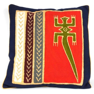 Handmade Tribal Lizard Batik Cushion Cover (Zimbabwe)