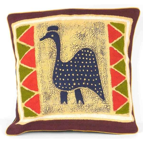 Handmade guinea fowl batik cushion cover zimbabwe free for Bathroom accessories zimbabwe