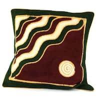 Handmade Geometric Mountain Batik Cushion Cover (Zimbabwe)