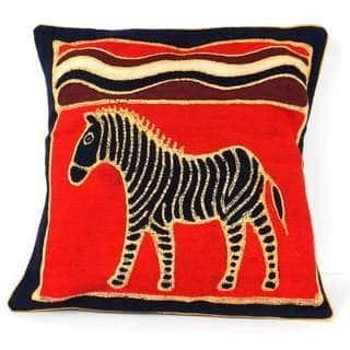 Handmade Standing Zebra Batik Cushion Cover (Zimbabwe)|https://ak1.ostkcdn.com/images/products/8700631/P15951750.jpg?impolicy=medium
