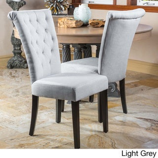 Christopher Knight Home Venetian Tufted Dining Chairs (Set of 2) by  (Upholstered - Velvet/Polyester Blend - Grey - Traditional - Parson Chairs/Side