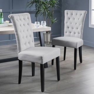 Venetian Tufted Dining Chairs Set Of  By Christopher Knight Home