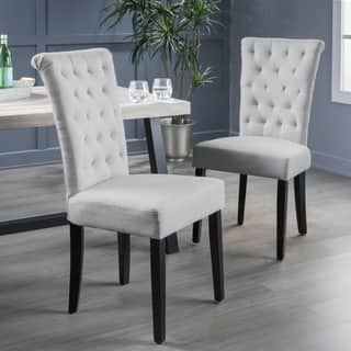 Venetian Tufted Dining Chairs Set Of 2 By Christopher Knight Home