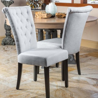 Venetian Tufted Dining Chairs (Set of 2) by Christopher Knight Home (Option: Grey)