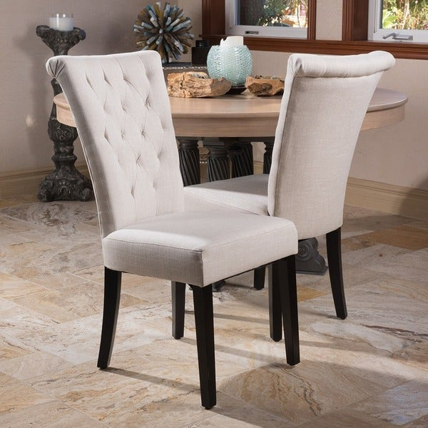 venetian tufted dining chairs (set of 2) by christopher knight