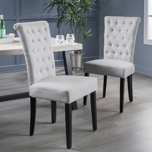 Shop Venetian Tufted Dining Chairs Set Of 2 By Christopher Knight