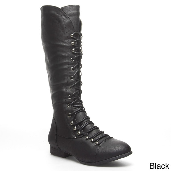 Shop Top Mod Women s  Coco-39  Knee-high Military Combat Boots ... cf93cb9799