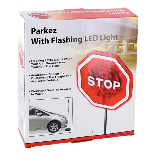 Park Ez Flashing Red Led Light Garage Parking Stop Sign