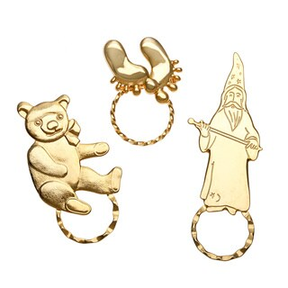 Detti Originals SPEC pins Wizard/ Teddy Bear and Feet 3-piece Spectacle Brooch Set