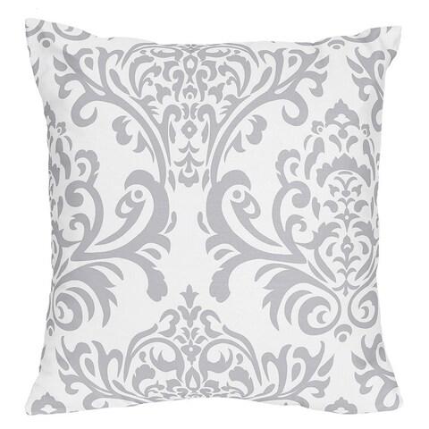 Sweet Jojo Designs Lavender and Grey Elizabeth Decorative Accent Throw Pillow