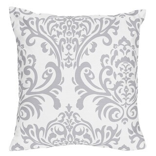 Sweet Jojo Designs Lavender and Grey Elizabeth Decorative Accent Throw Pillow