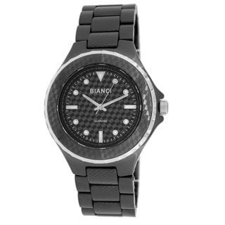 Roberto Bianci Unisex Stamped Design Black Ceramic Watch