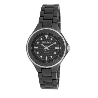 Roberto Bianci Women's Black Ceramic Stamped Design Watch