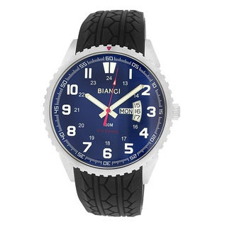 Roberto Bianci Men's Rubber Band Blue Face Watch