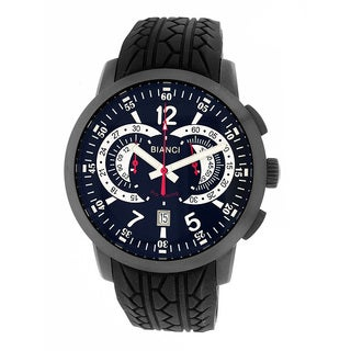 Roberto Bianci Men's Pro Racing Chronograph Gun Plated Black Face Watch