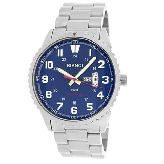 Roberto Bianci Men's All Steel Blue Face Watch