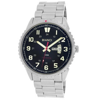 Roberto Bianci Men's All Steel Black Face Watch