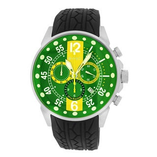 Roberto Bianci Men's Pro Racing Chronograph Green Face Watch