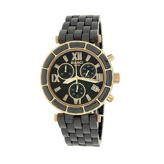 Roberto Bianci Women's 'Persida' Black Chronograph Ceramic Watch
