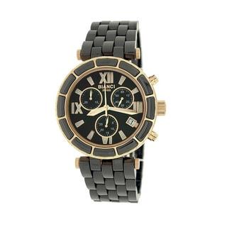 Roberto Bianci Women's 'Persida' Black Chronograph Ceramic Watch