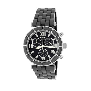 Roberto Bianci Women's 'Persida' Silver Chronograph Ceramic Watch