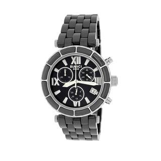 Roberto Bianci Women's 'Persida' Silver Chronograph Ceramic Watch