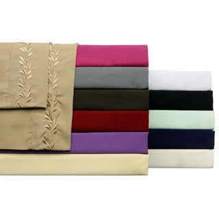 Luxury and Soft Embroidered 4-piece Sheet Set