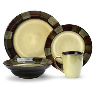 Pfaltzgraff Everyday Taos Stoneware 16-piece Dinnerware Set  sc 1 st  Overstock.com & Pfaltzgraff Tahoe 16-piece Dinnerware Set - Free Shipping Today ...