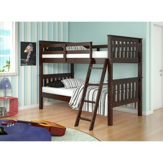 Donco Kids Mission Tilt Ladder Twin Bunk Bed
