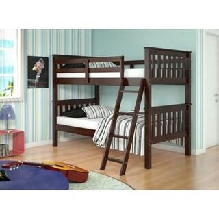 Donco Kids Mission Tilt Ladder Twin Bunk Bed