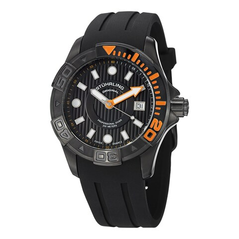 Stuhrling Original Men's Manta Ray Swiss Quartz Strap Watch