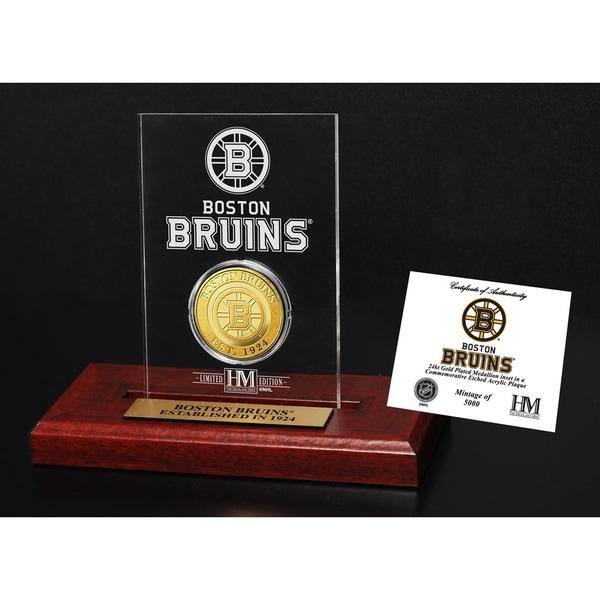 NHL Boston Bruins Etched Acrylic Desktop Commemorative Coin
