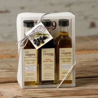 California Grown Cloud 9 Extra Virgin Olive Oil and Blackberry Vinegar (Set of 3)