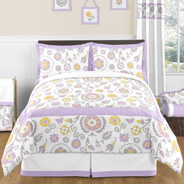 Sweet Jojo Designs Suzanna Girls 3-piece Full/Queen Bedding Set