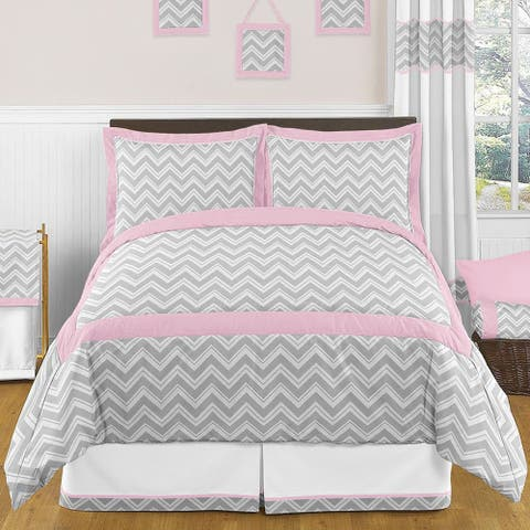 Sweet Jojo Designs Chevron Zigzag 3-piece Full/Queen Comforter Set