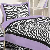 Sweet Jojo Designs Purple Funky Zebra 3-piece Full/Queen Comforter Set