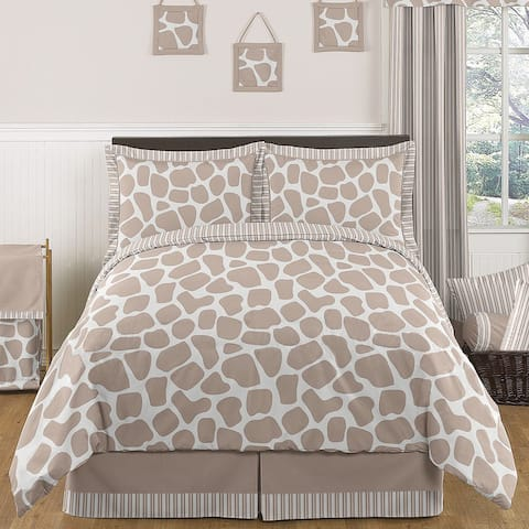 Sweet Jojo Designs Giraffe Neutral Full/Queen 3-piece Comforter Set