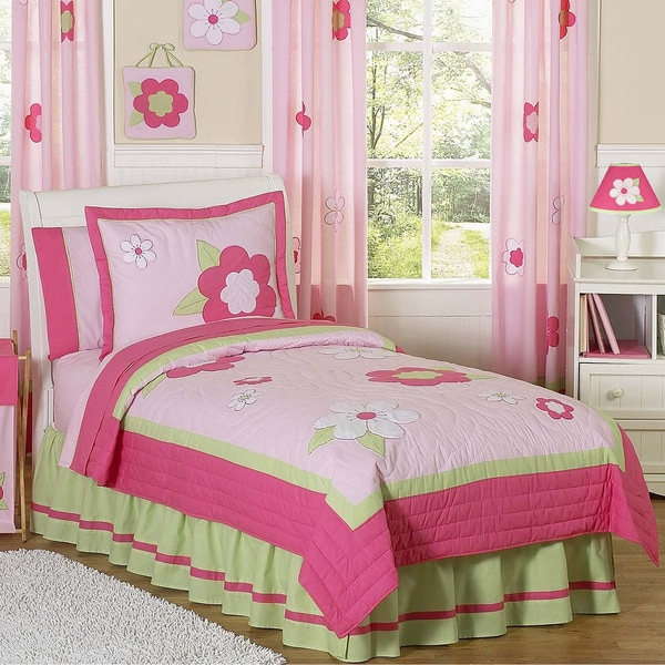 Sweet Jojo Designs Flower 3-piece Full/Queen Comforter Set