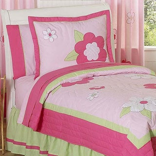 Sweet Jojo Designs Flower 3-piece Full/Queen Comforter Set