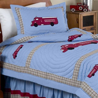 Sweet Jojo Designs Frankie's Fire Truck 3-piece Full/Queen Comforter Set