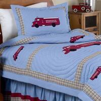 Sweet Jojo Designs Frankie's Fire Truck 3-piece Full/Queen Comforter Set