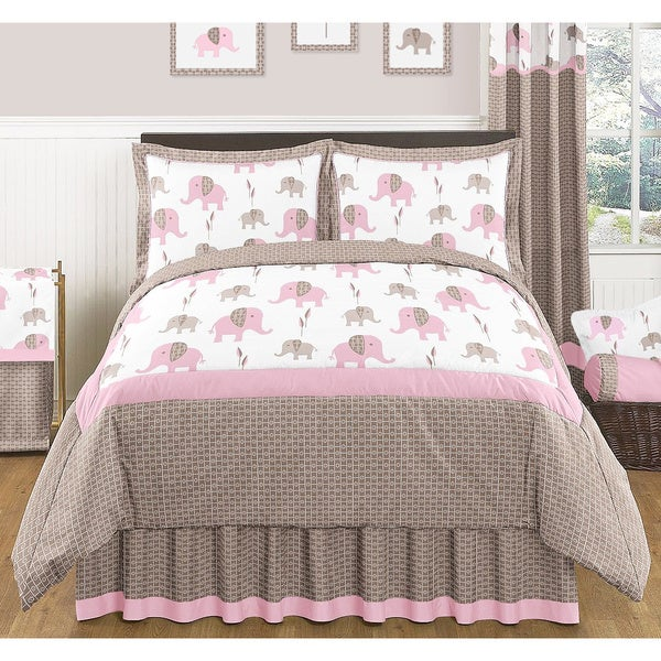 Sweet Jojo Designs Mod Elephant 3-piece Full/ Queen Comforter Set