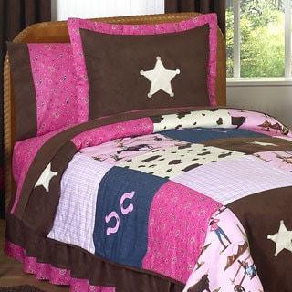 Sweet Jojo Designs Girls 'Cowgirl' 3-piece Full/Queen Comforter Set