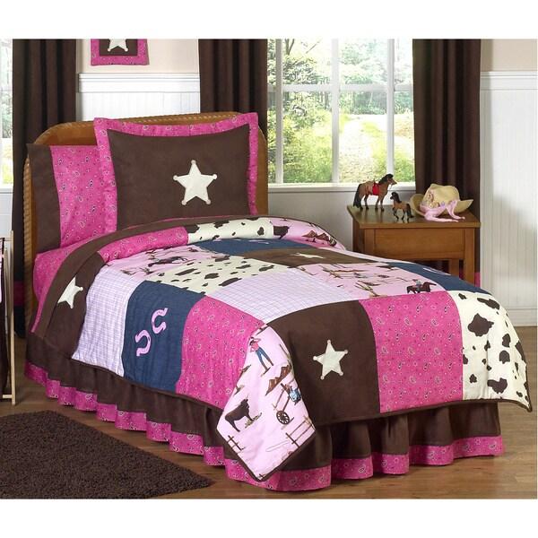 Shop Sweet Jojo Designs Girls Cowgirl 3 Piece Full Queen
