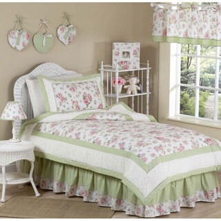 Sweet Jojo Designs Girls 'Riley's Roses' Twin 4-piece Comforter Set