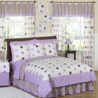 Sweet Jojo Designs Girls 'Polka Dots' 4-piece Twin Comforter Set